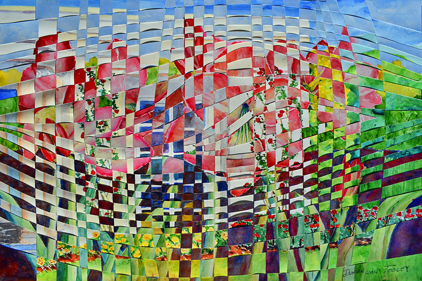 Woven Huntington Rose Garden by Duncan Tooley
